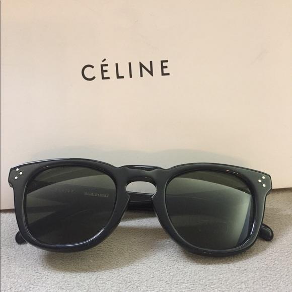 d4247c90039ea Celine CL 41383 F S Bevel Square Black Sunglasses